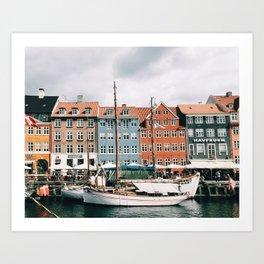 Nyhavn / Copenhagen, Denmark Art Print