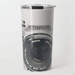 Vintage Camera Phone Travel Mug