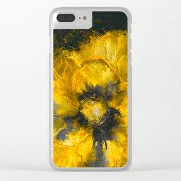 Jaune Fleur Clear iPhone Case