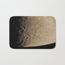 Moon craters in detail Bath Mat