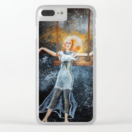 Fall into Space Clear iPhone Case