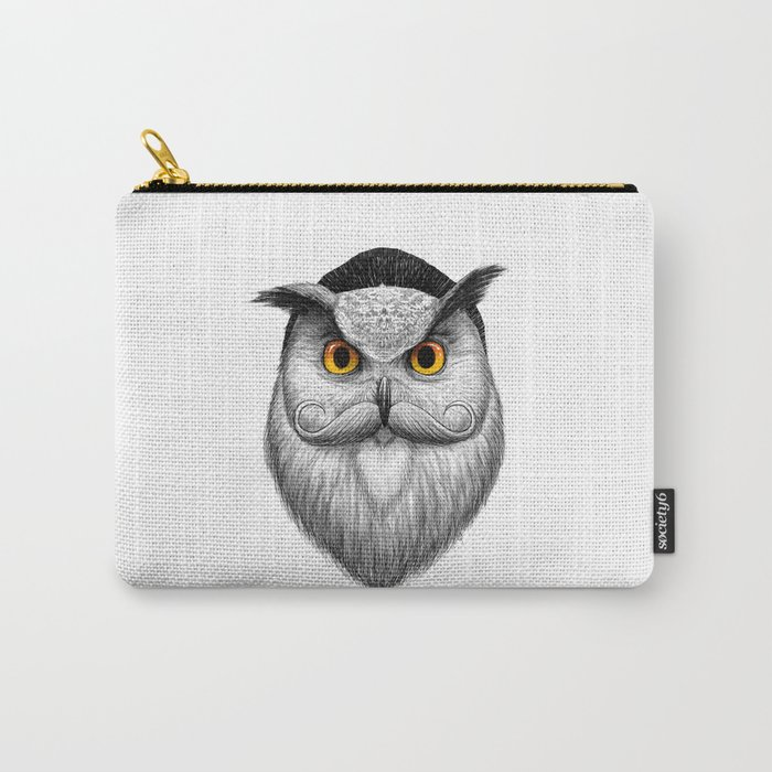 bearded owl Carry-All Pouch