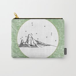 Machu Picchu, Peru, South America - Seven New Wonders Skyline Illustration Drawing Carry-All Pouch