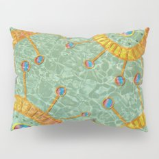 Orange Organism Pillow Sham