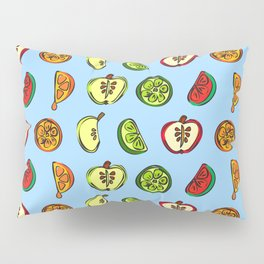 Fruit Abstract Pattern Oranges, Apples and Limes Pillow Sham