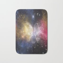 Galaxy - The Magnificent Collision Of Beauty Bath Mat