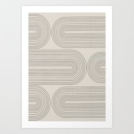Minimalist, Line Art Modern Art Print