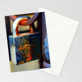 rusty lock Stationery Cards
