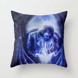 Angel in Blue Throw Pillow