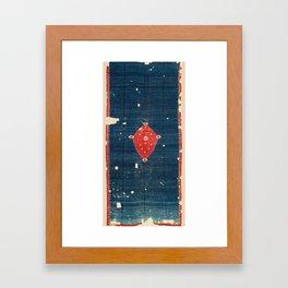 Balikesir  Antique Turkish Kilim Rug Print Framed Art Print