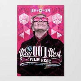 Way OUT West Film Fest (Poster 1) Canvas Print