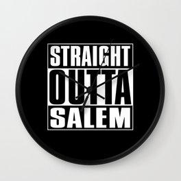 Straight Outta Salem Wall Clock
