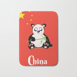 China Panda Cartoon poster Bath Mat