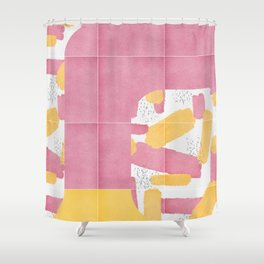 Bold Painted Tiles 01 #society6 #midmod Shower Curtain