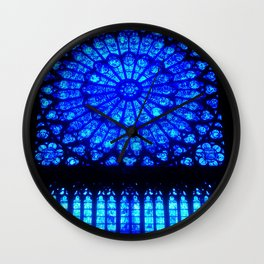 Notre Dame Stained Glass Wall Clock