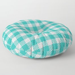 LIght Sea Green Buffalo Plaid Floor Pillow