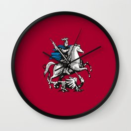 Flag of moscow Wall Clock