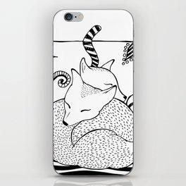 Hugging foxes iPhone Skin