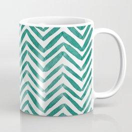 Zigzag - green Coffee Mug