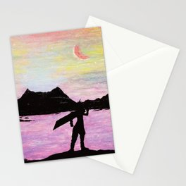 Cloud Strife at the Northern Crater Stationery Cards