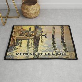 Vintage poster - Venise et le Lido Rug