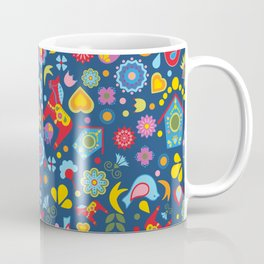 Swedish Folk Art Garden Coffee Mug