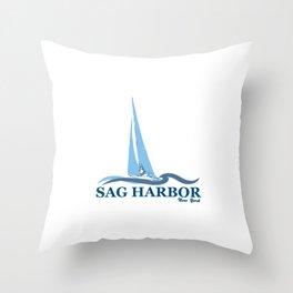 Sag Harbor - Long Island. Throw Pillow