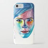 emma watson iPhone & iPod Cases featuring Emma Watson by Stella Joy