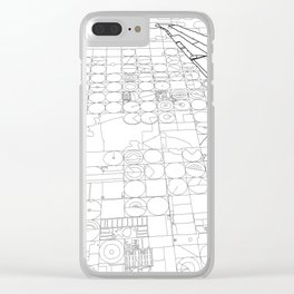 Texas from the Sky - Line Art Clear iPhone Case