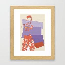 Momo Framed Art Print