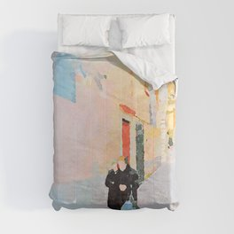Two women in the alley Comforters