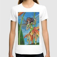 marianna T-shirts featuring Marianna - Heliconia Haute Couture by Lauralin Maynard