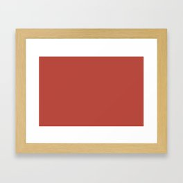 Bold Invention Red Solid Color Accent Shade / Hue Matches Sherwin Williams Habanero Chile SW 7589 Framed Art Print