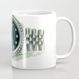 Luxury Platinum Diamond Timepiece Coffee Mug