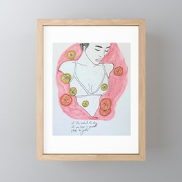 Bathe in Self-Love Framed Mini Art Print