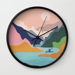 River Canyon Kayaking Wall Clock