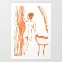 bath Art Prints featuring bath by Annabelle Paré