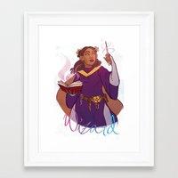 wizard Framed Art Prints featuring Wizard by Regina Legaspi