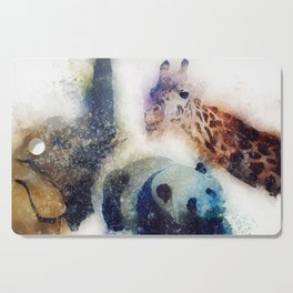 Animals Painting Cutting Board