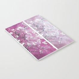 Van Gogh Almond Blossoms Blue Purple Orchid Notebook