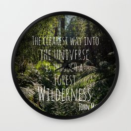 Forest Wilderness Wall Clock