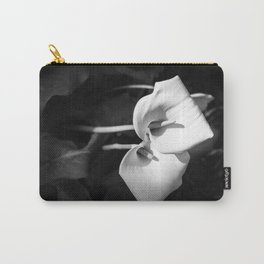 Giant White Calla Lily Carry-All Pouch