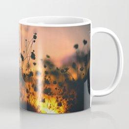 Poppy flowers shadows over sunset Coffee Mug