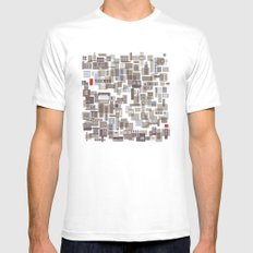 mapping home 4 Mens Fitted Tee SMALL White