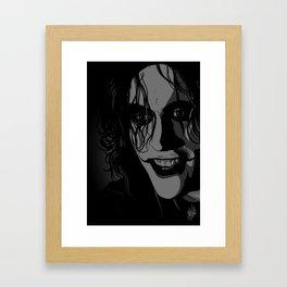 The Crow portrait (Brandon Lee) Framed Art Print