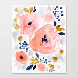 Genevieve Floral Canvas Print