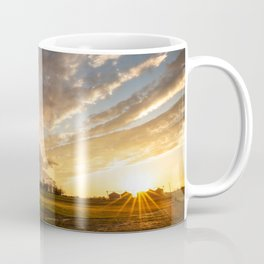 Mississippi Delta - Sunset Over a Farm After Stormy Day in Southeast Coffee Mug