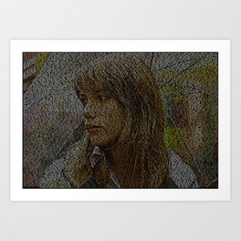 Text Portrait of Scarlet Johansson with full script of Lost in Translation Art Print