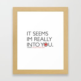A4 valentines day poster Framed Art Print