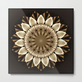 Abstract Sunflower Metal Print